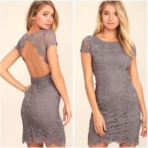 Lulu's | Hidden Talents Backless Lace Dress